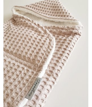 Maxi Cosi Blanket Beige Large Waffle & White Teddy