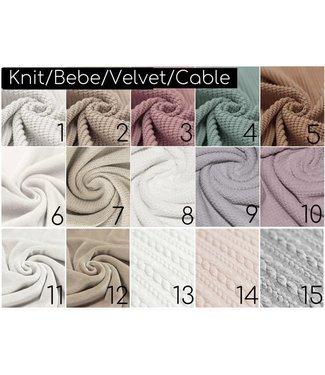 Knit/Bebe/Velvet/Cable Samples