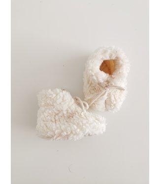 Teddy Babyschuhe Ecru