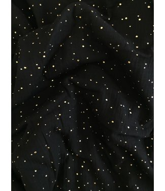 Swaddle Black & gold dots