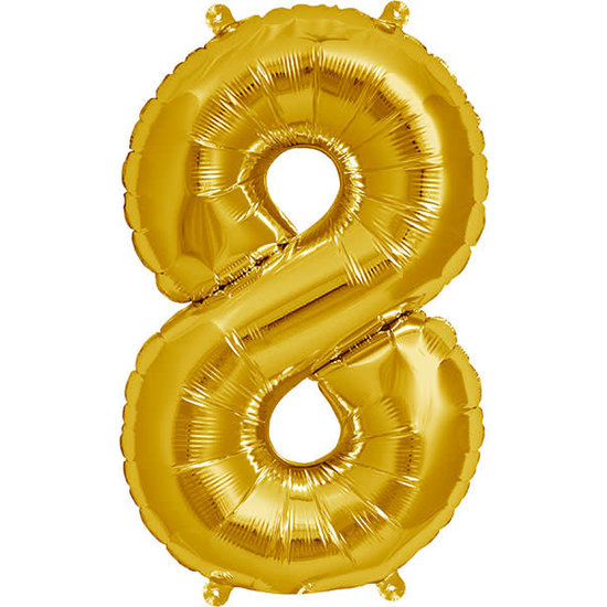 Northstar Ballon - cijfers - goud - 40 cm - Northstar - 8