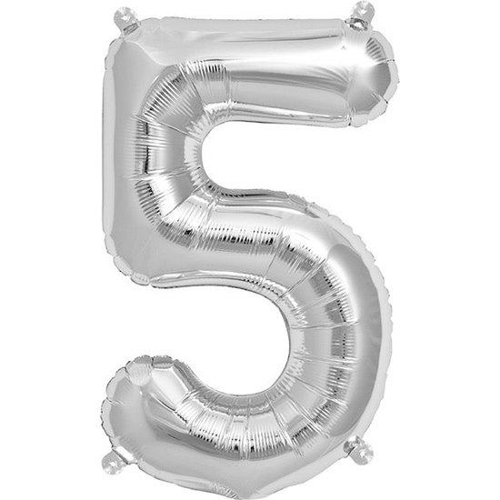 Northstar Ballon - cijfers - zilver - 40 cm - Northstar - 5