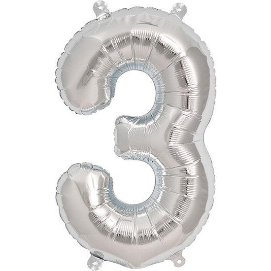 Northstar Ballon - cijfers - zilver - 40 cm - Northstar - 3