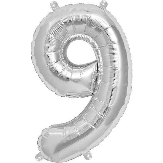 Northstar Ballon - cijfers - zilver - 40 cm - Northstar - 9