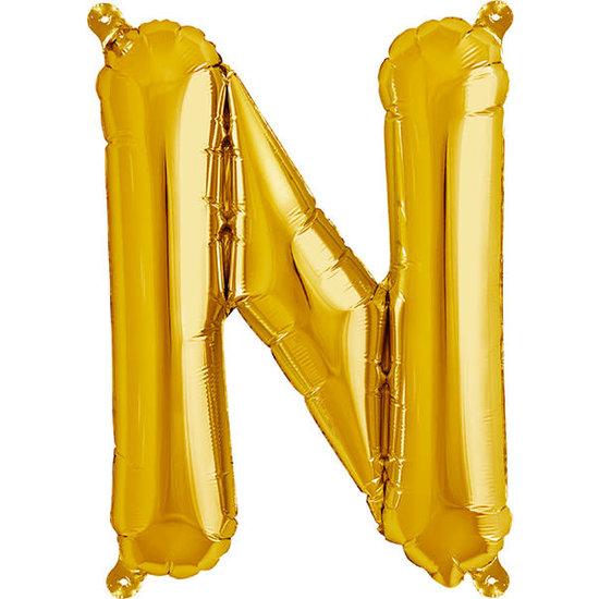 Northstar Ballon - letters - goud - 40 cm - Northstar - N