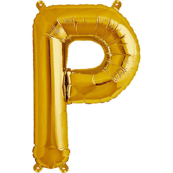 Northstar Ballon - letters - goud - 40 cm - Northstar - P
