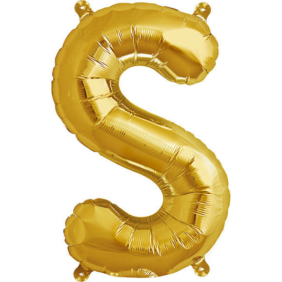 Northstar Ballon - letters - goud - 40 cm - Northstar - S