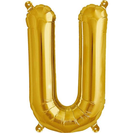 Northstar Ballon - letters - goud - 40 cm - Northstar - U