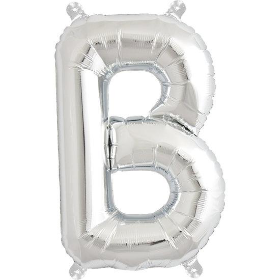 Northstar Ballon - letters - zilver - 40 cm - Northstar - B