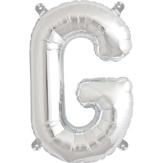 Northstar Ballon - letters - zilver - 40 cm - Northstar - G