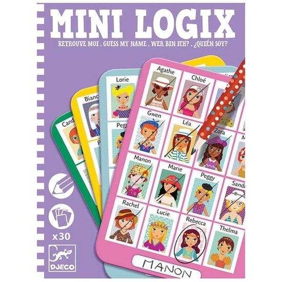 Djeco Djeco - Guess my name? Girls - Mini games - Mini Logix