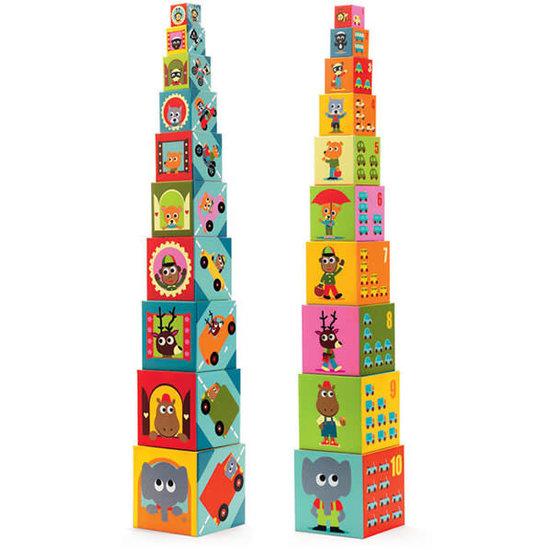Djeco Djeco stapelblokken - stapeltoren - voertuigen