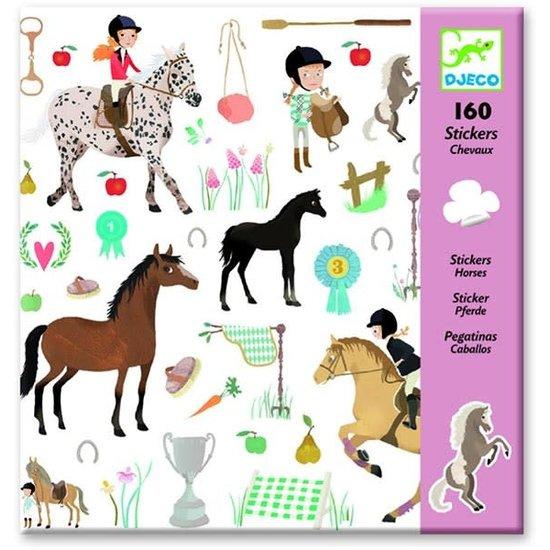 Djeco Pferde Aufkleber - 160 Stickers - Djeco