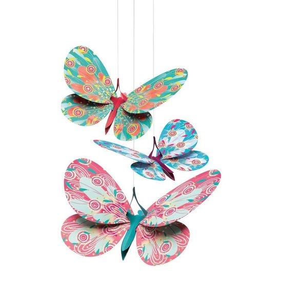 Djeco Schimmernden Papier Dekorsatz Schmetterlinge - Djeco