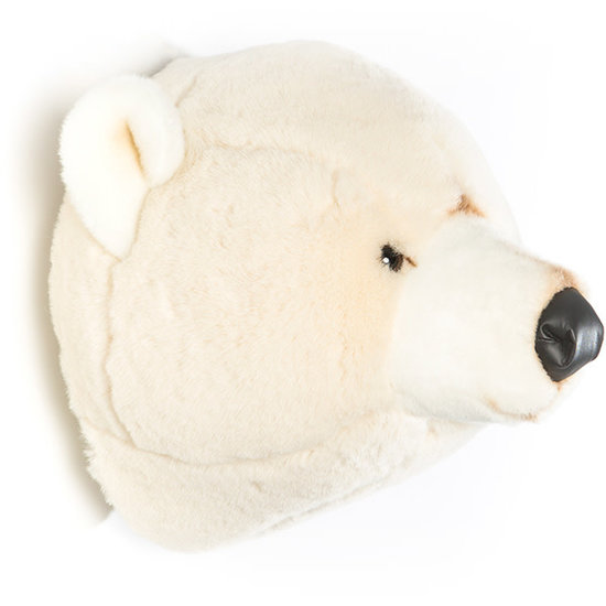 Bibib - Wild and Soft Animal head - trophy - Polar Bear Basile - Bibib - Wild and Soft