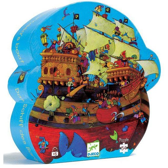 Djeco Stoere piraten legpuzzel silhouet - De boot van Barbarossa - Djeco