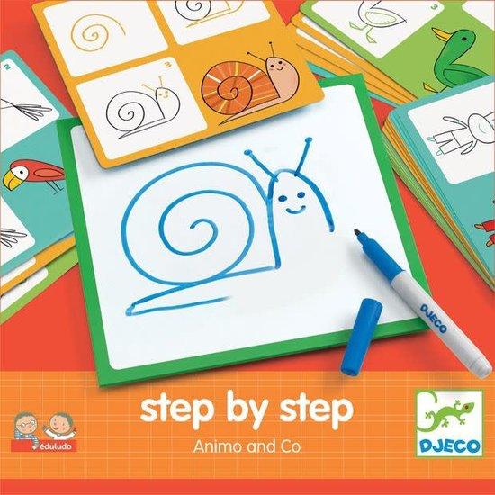 Djeco Djeco dieren leren tekenen stap voor stap