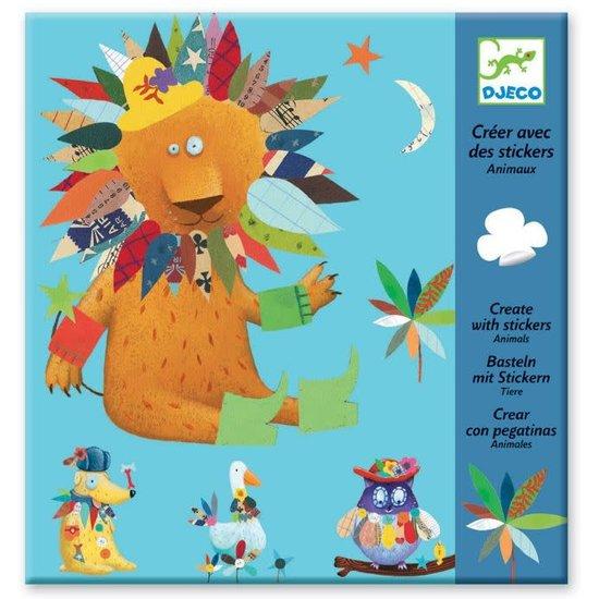 Djeco Funny sticker set - Create Animals - Djeco