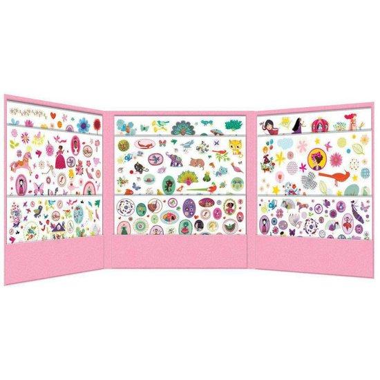 Djeco Super lustige Aufkleber Set - 1000 Sticker für Mädchen - Djeco