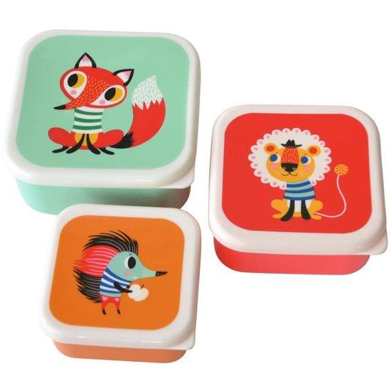 Petit Monkey Lunchbox set - animals - Helen Dardik - Petit Monkey