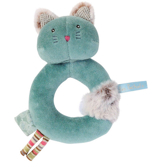Moulin Roty Moulin Roty - Les Pachats - rammelaar kat Chacha blauw