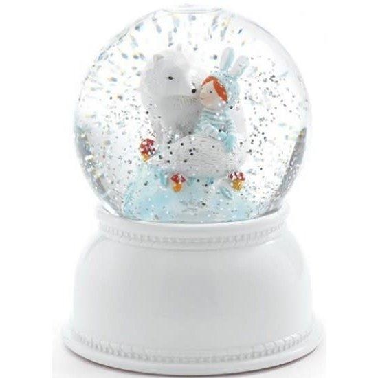 Djeco Djeco nachtlampje sneeuwbol Lila en Pupi
