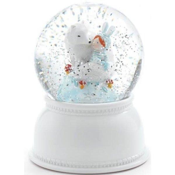 Djeco Djeco Nachtlicht Schneekugel Lila en Pupi