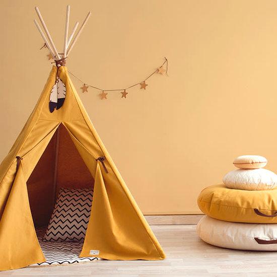 Nobodinoz tipi en accessoires Nobodinoz Nevada Teepee - Pure Line - Farniente yellow