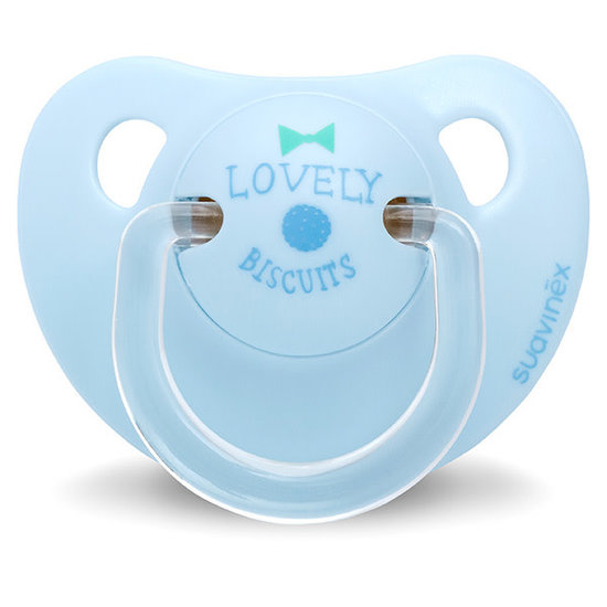 Suavinex Pacifier Anatomical Latex 0-6M Lovely Biscuits blue Suavinex