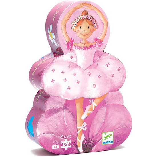 Djeco Puzzle The ballerina with the flower - Djeco - 36 pieces - 4 years
