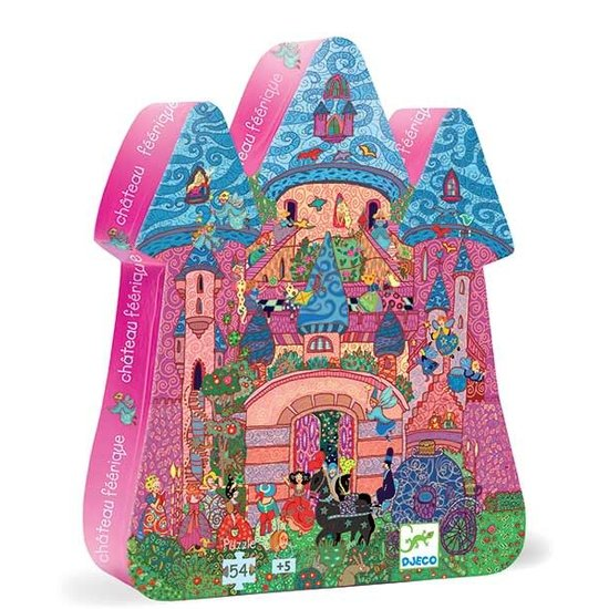 Djeco Puzzel feeën kasteel - Djeco - 54 stukjes - 5 jaar