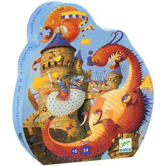 Djeco Puzzel Vaillant en de draken - Djeco - 54 stukjes - 5 jaar