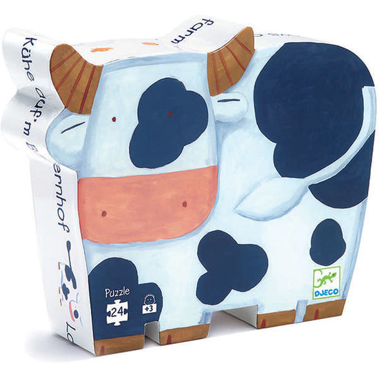 Djeco Djeco - Puzzle - The cow on the farm - 3 yrs - 24 pcs