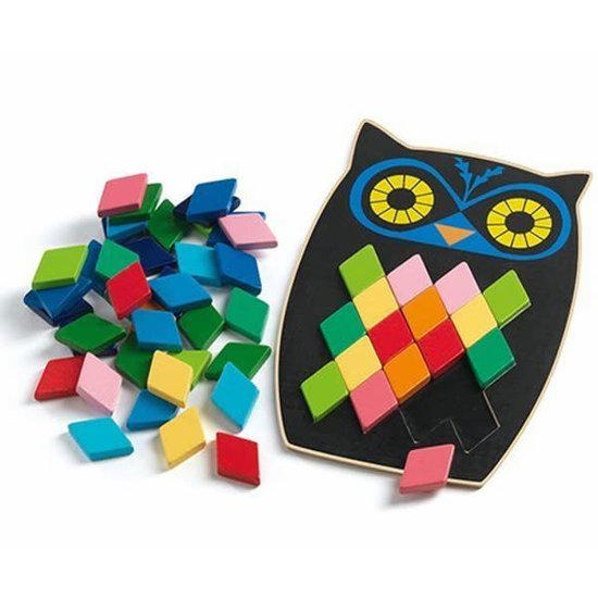 Djeco Djeco - puzzel - mozaiek - Mosa Boo uil +3jr