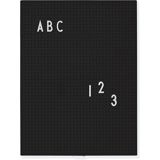 Design Letters Design Letters - letterbord A4 - Message Board - zwart