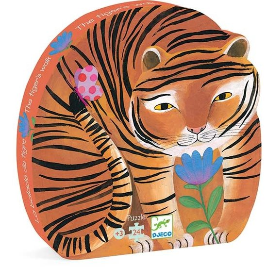 Djeco Djeco - Puzzle - Tiger - 3 Jahre - 24 Stk