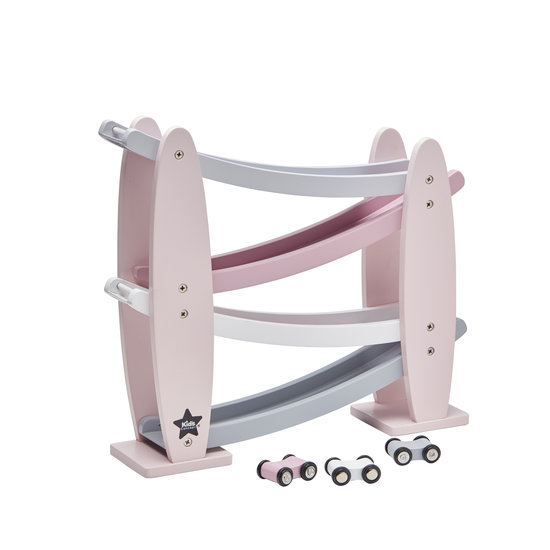 Kid's Concept Wooden race track - pink - Kids Concept +2yrs