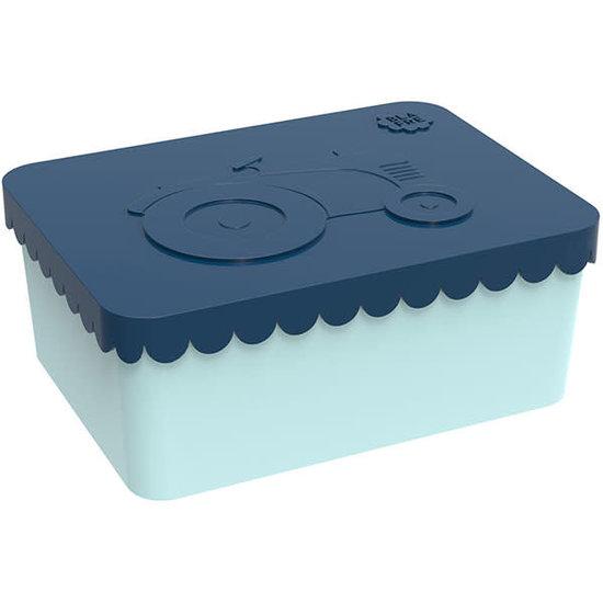 Blafre Lunchbox - brooddoos - tractor - navy blauw - Blafre