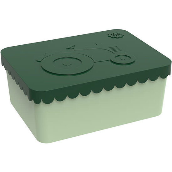 Blafre Lunchbox - brooddoos - tractor - donkergroen - Blafre