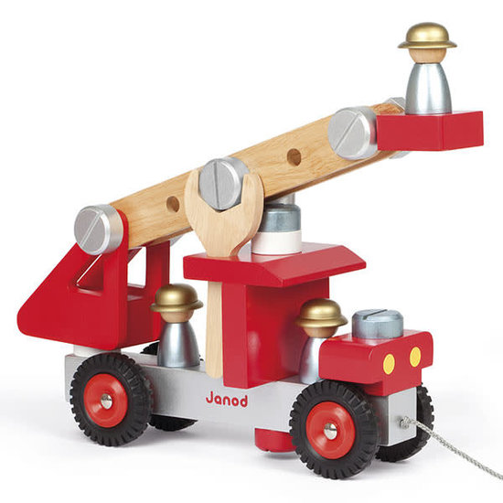 Janod speelgoed Janod - DIY fire truck toy +2 yrs