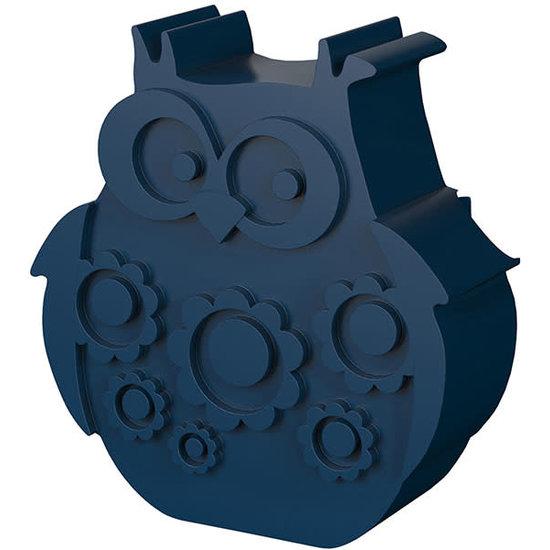 Blafre Lunchbox - brooddoos - uil - navy blauw - Blafre