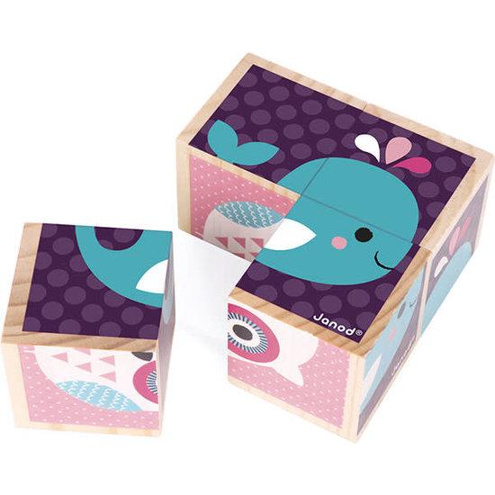 Janod speelgoed Block Puzzle - My First Blocks - Baby Animals - Janod +12M