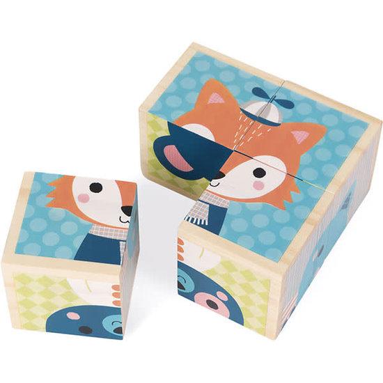 Janod speelgoed Janod - blokpuzzel - Mijn eerste blokken - Bosdieren +12M