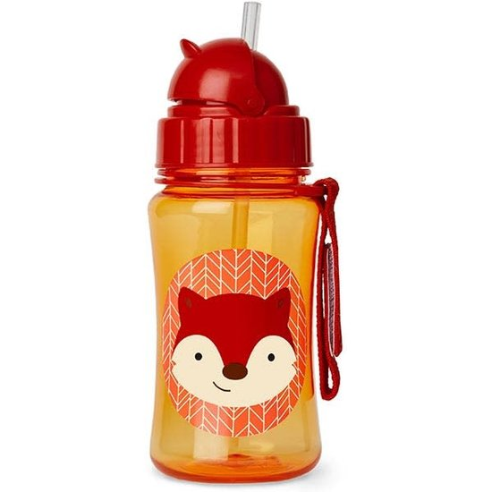 Skip Hop Water bottle with straw - fox - Skip Hop