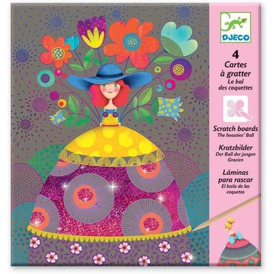 Djeco Djeco - kraskaarten - Het bal der schoonheden 6-10 jr