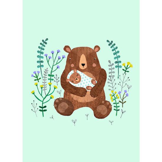 Petit Monkey Postkarte - Baby-Bär - Rebecca Jones - Petit Monkey