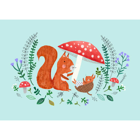 Petit Monkey Postkaart - Baby eekhoorn - Rebecca Jones - Petit Monkey