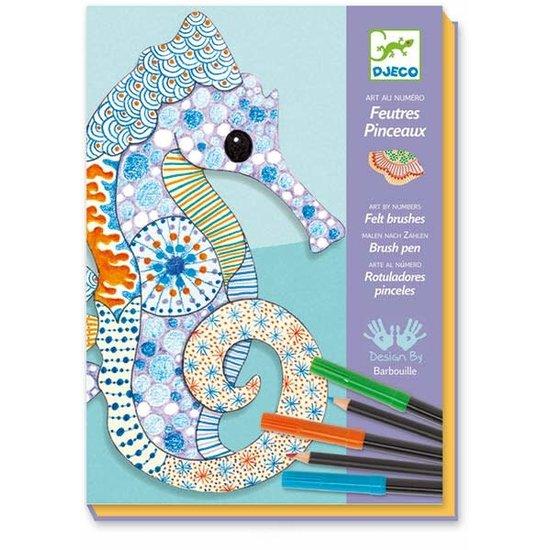 Djeco Djeco - knutseldoos - kleurplaten - motiefkunst + 7jr