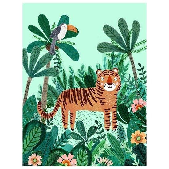 Petit Monkey Postkaart - tijger - Rebecca Jones - Petit Monkey