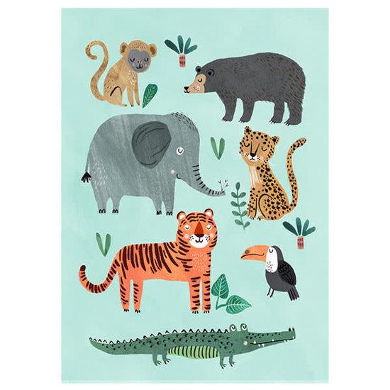 Petit Monkey Postkaart - wilde dieren - Rebecca Jones - Petit Monkey